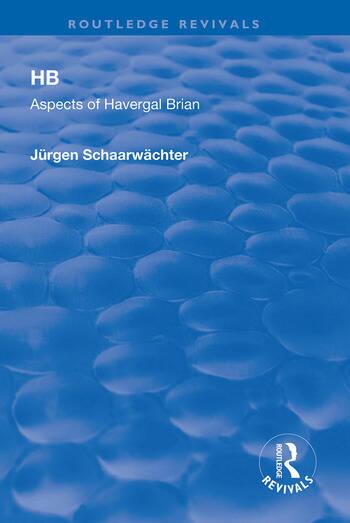 HB: Aspects of Harvergal Brian Aspects of Harvergal Brian book cover