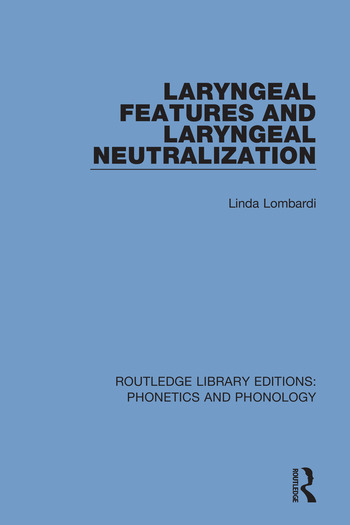 Laryngeal Features and Laryngeal Neutralization book cover