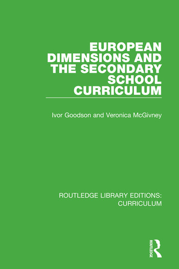 European Dimensions and the Secondary School Curriculum book cover