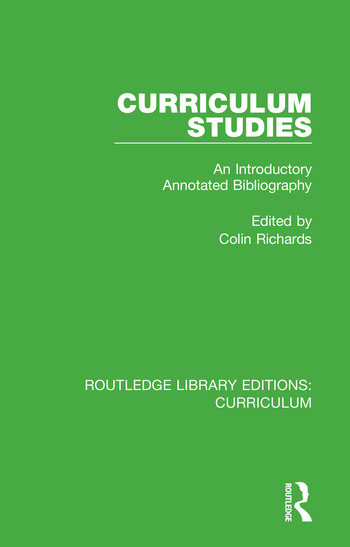 Curriculum Studies An Introductory Annotated Bibliography book cover
