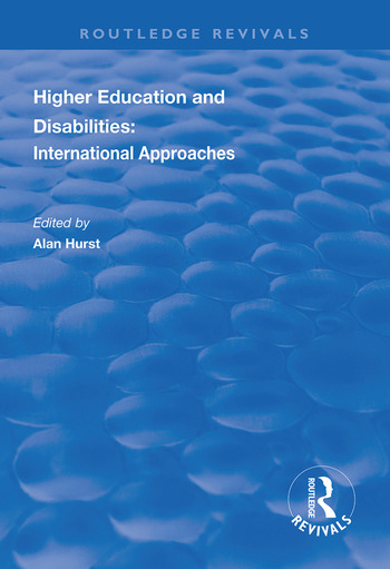 Higher Education and Disabilities International Approaches book cover