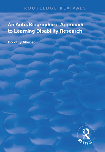 An Auto/Biographical Approach to Learning Disability Research book cover