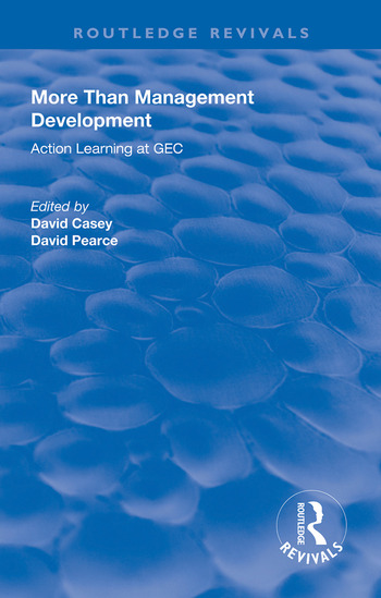 More Than Management Development Action Learning at General Electric Company book cover