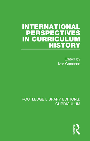 International Perspectives in Curriculum History book cover