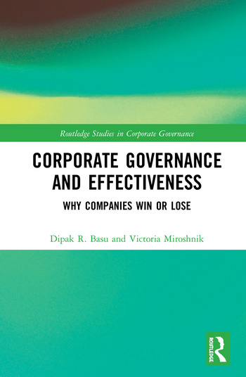 Corporate Governance and Effectiveness Why Companies Win or Lose book cover