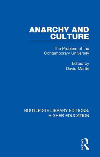 Anarchy and Culture The Problem of the Contemporary University book cover