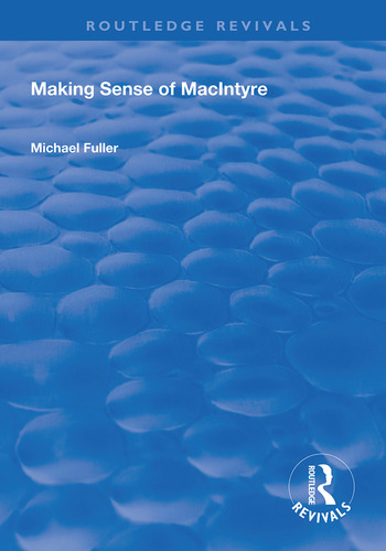 Making Sense of MacIntyre book cover