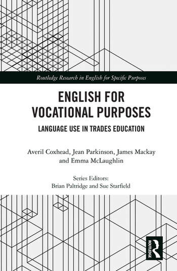 English for Vocational Purposes Language Use in Trades Education book cover