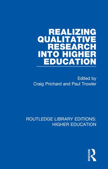 Realizing Qualitative Research into Higher Education book cover