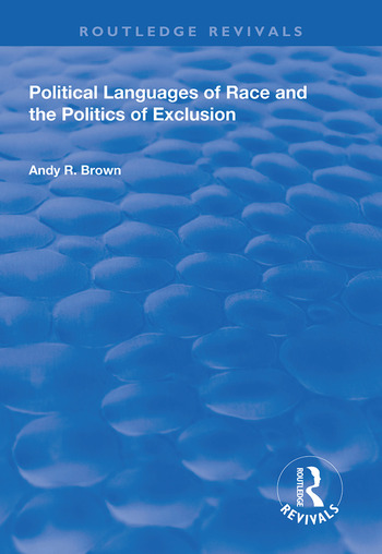 Political Languages of Race and the Politics of Exclusion book cover