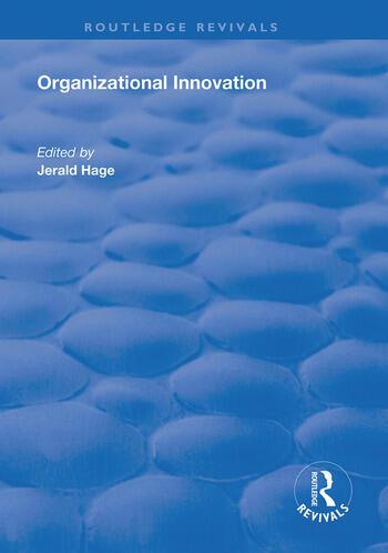 Organizational Innovation book cover