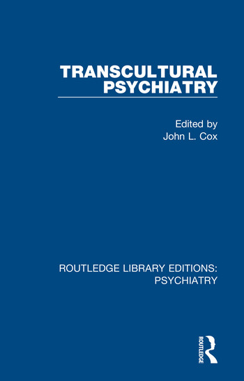Transcultural Psychiatry book cover