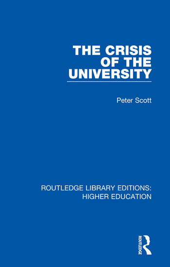 The Crisis of the University book cover