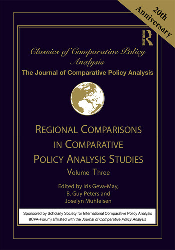 Regional Comparisons and Policy Analysis Volume Three book cover