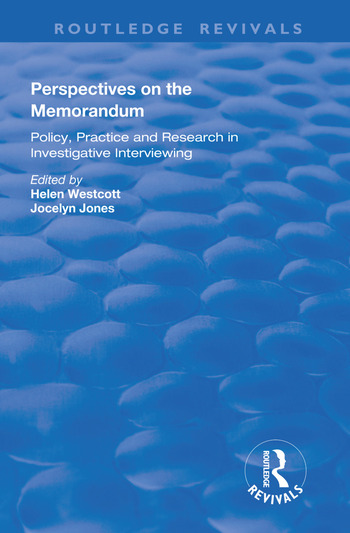 Perspectives on the Memorandum book cover