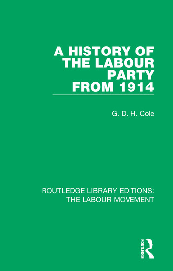 A History of the Labour Party from 1914 book cover