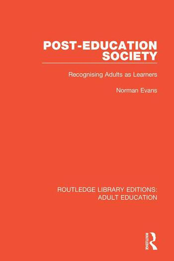 Post-Education Society Recognising Adults as Learners book cover
