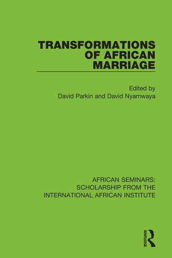 Transformations of African Marriage book cover
