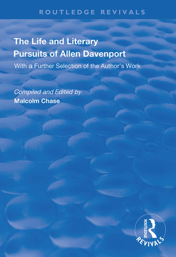 The Life and Literary Pursuits of Allen Davenport book cover