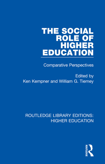 The Social Role of Higher Education Comparative Perspectives book cover