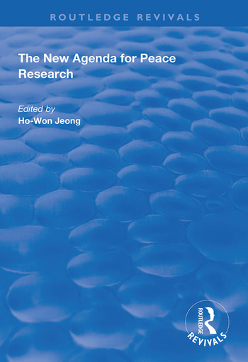 The New Agenda for Peace Research book cover