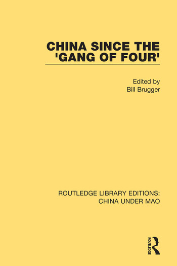 China Since the 'Gang of Four' book cover