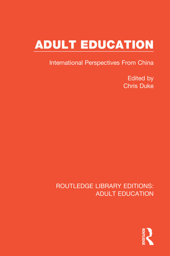 Adult Education International Perspectives From China book cover