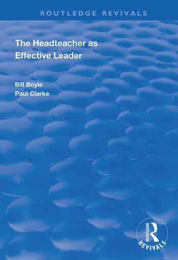 The Headteacher as Effective Leader book cover