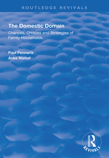 The Domestic Domain Chances, Choices and Strategies of Family Households book cover