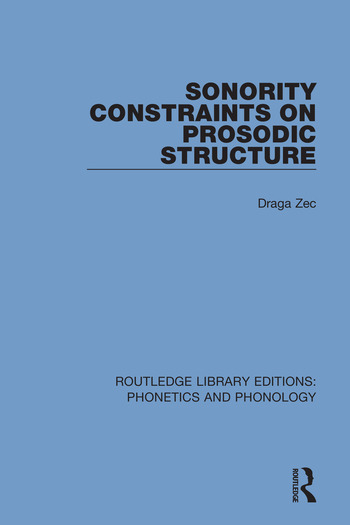 Sonority Constraints on Prosodic Structure book cover