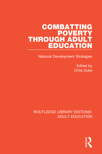 Combatting Poverty Through Adult Education National Development Strategies book cover