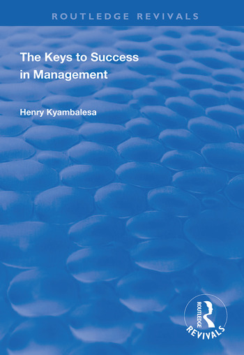The Keys to Success in Management book cover
