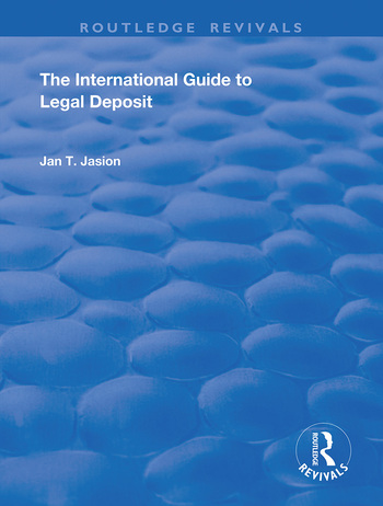 The International Guide to Legal Deposit book cover