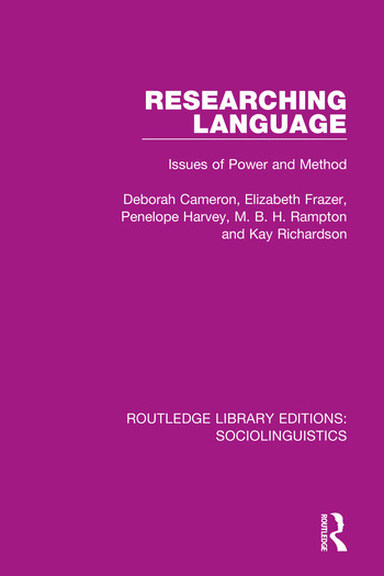Researching Language Issues of Power and Method book cover