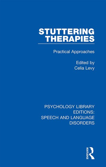 Stuttering Therapies Practical Approaches book cover