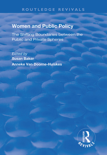 Women and Public Policy The Shifting Boundaries Between the Public and Private Spheres book cover