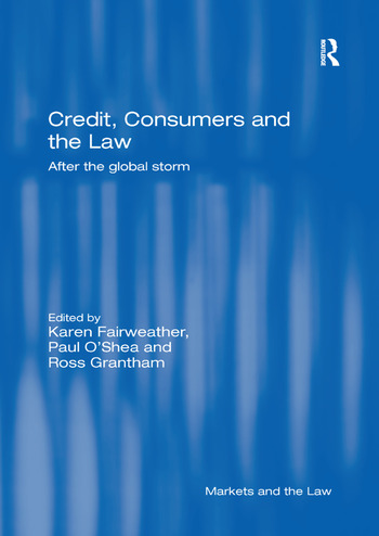 Credit, Consumers and the Law After the global storm book cover