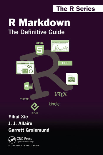 R Markdown The Definitive Guide book cover