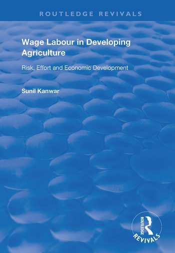 Wage Labour in Developing Agriculture Risk, Effort and Economic Development book cover