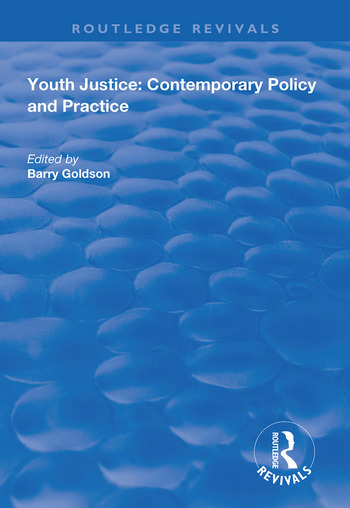 Youth Justice Contemporary Policy and Practice book cover