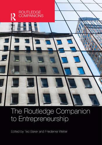 The Routledge Companion to Entrepreneurship book cover