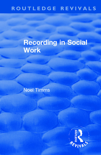Recording in Social Work book cover