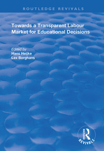 Towards a Transparent Labour Market for Educational Decisions book cover