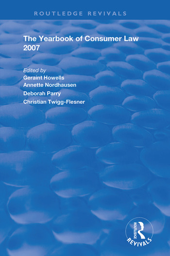 The Yearbook of Consumer Law 2007 book cover