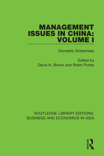 Management Issues in China: Volume 1 Domestic Enterprises book cover