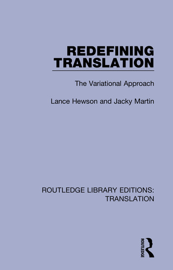Redefining Translation The Variational Approach book cover