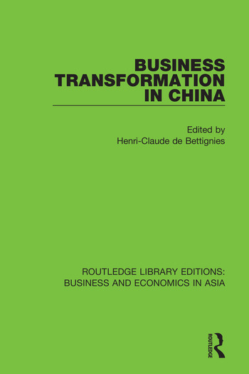 Business Transformation in China book cover