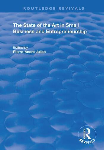The State of the Art in Small Business and Entrepreneurship book cover