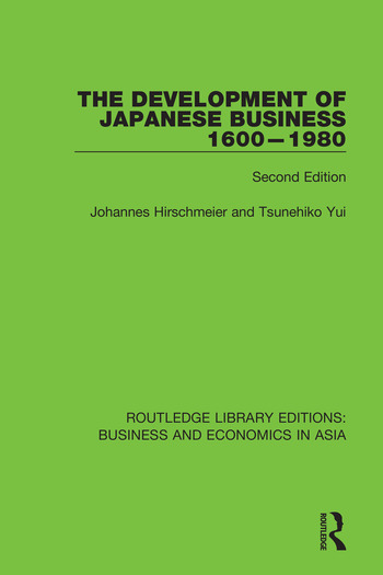 The Development of Japanese Business, 1600-1980 Second Edition book cover