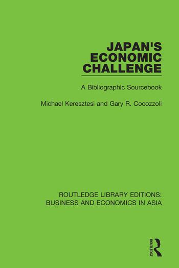 Japan's Economic Challenge A Bibliographic Sourcebook book cover